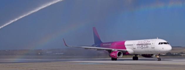 Самолетната линия до Виена на Wizz Air, която беше обявена за целогодишна ще бъде спряна тази зима